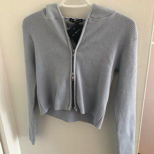 Brandy Melville light blue Arden hoodie
